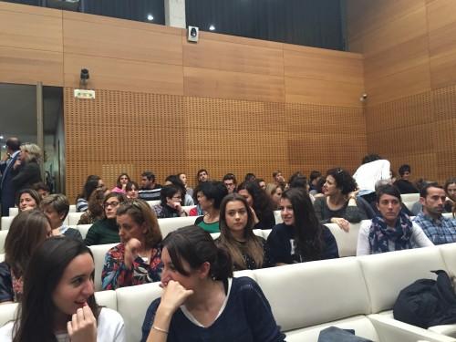 El auditorio del Civican minutos antes de la conferencia de César Bona.