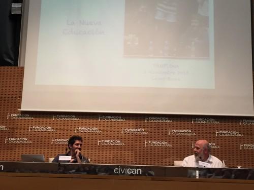 César Bona en el Civican de Pamplona.
